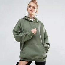 Hanni - Plain Hooded Pullover