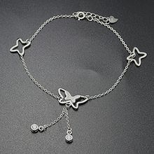 Silver City - Butterfly 925 Sterling Silver Anklet