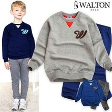 WALTON kids - Set: Cotton Pullover + Elastic-Waist Pants