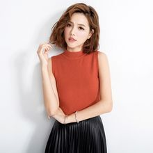Tokyo Fashion - Sleeveless Mock-Neck Knit Top