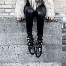 Chryse - Studded Strap Short Boots