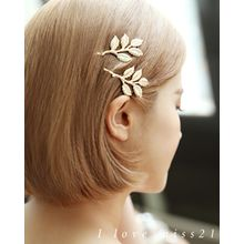 Miss21 Korea - Set of 2: Leaf Hair Pins