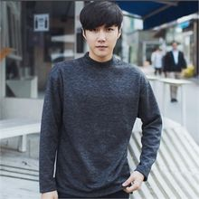 MITOSHOP - Mock-Neck Brushed-Fleece Lined Top