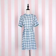 Jade Dragon - Gingham Short-Sleeve Dress / Lace Trim Slipdress / Lace Trim Drawstring Tote