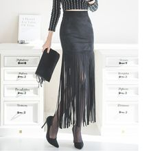 Aurora - Fringed Maxi Skirt