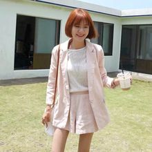 Momewear - Set: Single-Button Blazer + Shorts