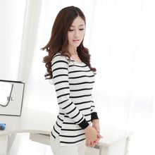Lovebirds - Long-Sleeve Striped T-Shirt