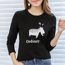 Q.C.T - Zebra Print Long-Sleeve T-shirt