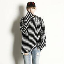 Rememberclick - Oversized Striped T-Shirt