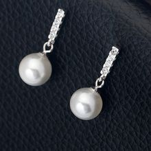 A'ROCH - 925 Sterling Silver Faux Pearl Earrings