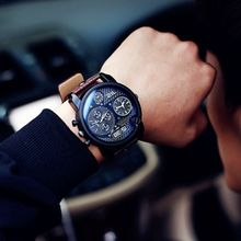 MRCYC - Faux-Leather Strap Watch