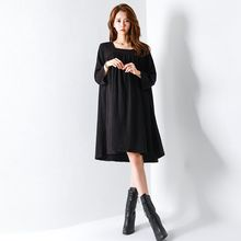 FASHION DIVA - Square-Neck 3/4-Sleeve Shirred Dress