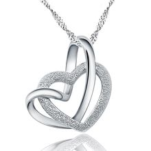 Kitty Kiss - 925 Sterling Silver Heart Necklace