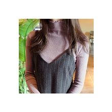 CHERRYKOKO - Mock-Neck Slim-Fit Knit Top