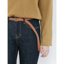 FROMBEGINNING - Faux-Leather Braided Belt