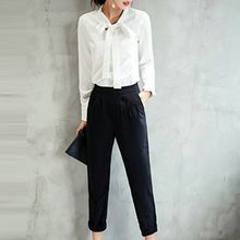 Queen Bee - Set: Long-Sleeve Shirt + Cropped Harem Pants