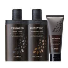 The Saem - Crosswood Homme Set: Toner 150ml + Emulsion 150ml + Foam Cleanser 100ml