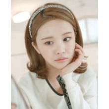Miss21 Korea - Fringed Tweed Hair Band