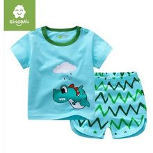 Endymion - Kids Set : Monster Short-Sleeve T-shirt + Chevron Shorts