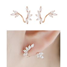 Miss21 Korea - Rhinestone Ear Jackets (2 pcs)