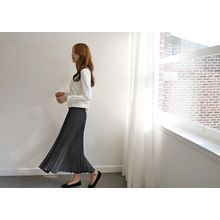 Hello sweety - Accordion-Pleated Wide-Leg Pants