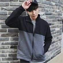 MITOSHOP - Two-Tone Zip-Up Jacket