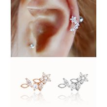 Miss21 Korea - Rhinestone Flower Single Earring