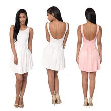 Hotprint - Open Back Skater Dress