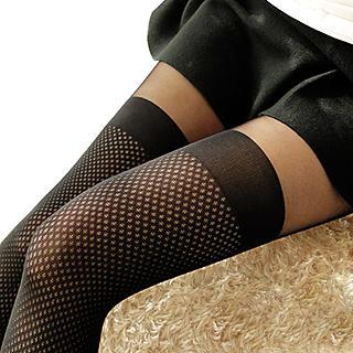 NANA Stockings - Mesh Panel Tights