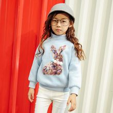 Lemony dudu - Kids Pompom Sequined High Neck Pullover