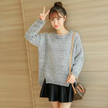 Colorful Shop - Slit-Hem Sweater