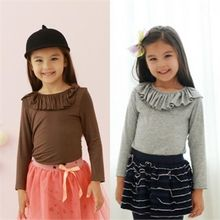 TWINSBILLY - Girls Ruffle-Neckline Top