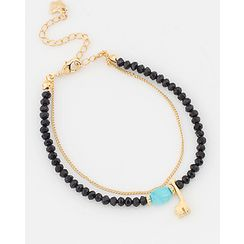 Miss21 Korea - Double-Strand Bead Bracelet