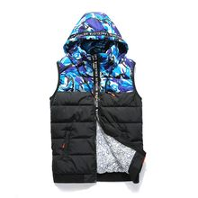 Blueforce - Camouflage Panel Hooded Padded Vest