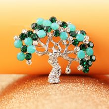 Trend Cool - Rhinestone Tree Brooch