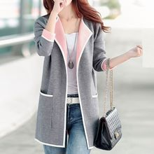 Fashion Street - Collarless Open-Front Jacket