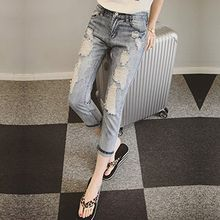 Ashlee - Distressed Cropped Jeans