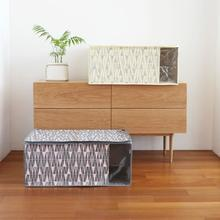 iswas - Patterned Blanket Storage Box - (L)