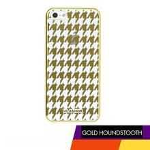 Vlashor - Houngstooth - Metellic Gold iPhone5 Case