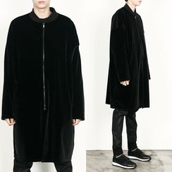 Rememberclick - Zip-Up Long Jacket