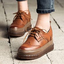 MIAOLV - Platform Brogue Oxfords