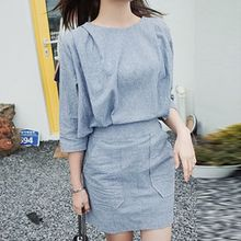 Arroba - 3/4-Sleeve Linen Dress