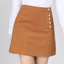 Isadora - Button Detail A-Line Skirt