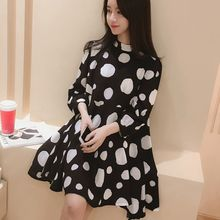 Ceres - Maternity Dotted Chiffon Dress