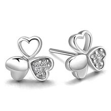 Silver City - Shamrock Stud Earrings