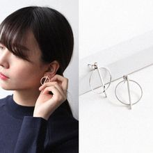Love Generation - Sterling Silver Geometric Hoop Earrings