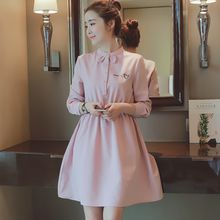 Cherry Dress - Embroidered Rabbit Ear Long Sleeve Dress