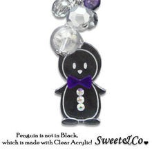 Sweet & Co. - Mini Violet Bowtie Penguin Necklace