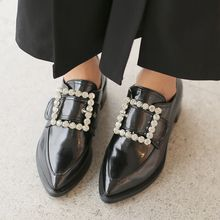 Cherryville - Rhinestone Buckled Loafers
