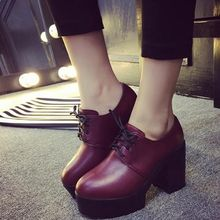 Charming Kicks - Block Heel Platform Oxfords